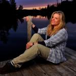 Sharon on the Dock in Twilight